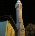 A Bursa mosque by night