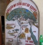 خريطة الرحلة مريم ويوسف ويسوع في المسيحية القبطية