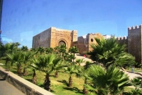 Old City walls at Kasbah of the Oudaias