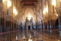 The Hassan II Mosque main hall