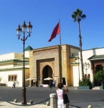 The main entrance to the Palace in Rabat