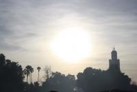 غروب شمس مدينة مراكش