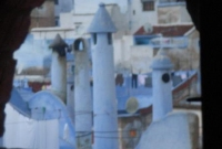 Smurf city chimneys