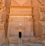 One of the massive façade of a tomb at Qasr al-Bint