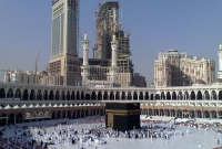 Modern buildings rise over the Masjid al-Haram