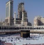 Modern buildings rise over the Masjid al-Haram