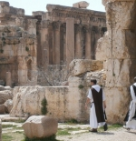 Monks at Baalbek