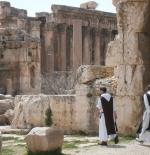 Monks at Baalbek