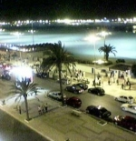 شارع الجيش الملكي المحاذي لشاطئ طنجة