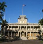 قصر في هونولولو ، سابقا مقر اقامة العاهل هاواي