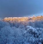 المدينة القديمة في الشتاء