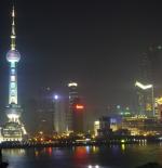 مدينة شنغهاي ليلاً
