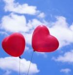 صورة قلبان طائران